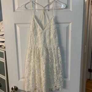 White crotchet hollister dress